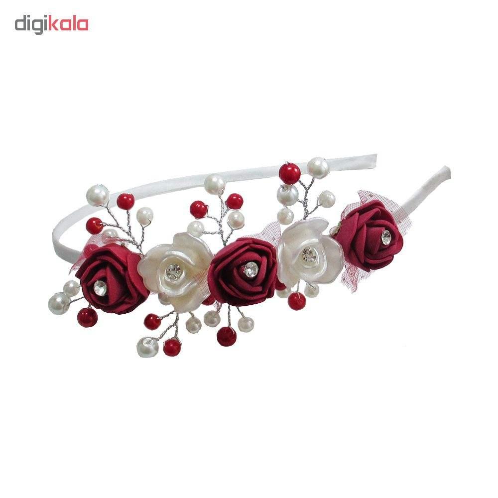 تل دخترانه گل قرمز و سفید